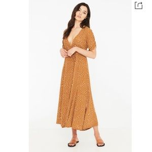 Chiara Dot Print Wrap Dress